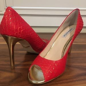 """NWT Louise et Cie: Scorpio Red/Gold """"Fish Scale"""""""